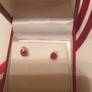 Jewelry - Ruby and diamond earrings